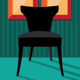 Flat design modern chair in chic setting Royalty Free Stock Photos