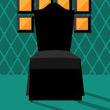 Flat design modern chair in chic setting Stock Images