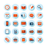 Flat design modern icons set on business and finan. Flat design modern  illustration icons set on business and finance theme. Icons with long shadow in stylish Stock Image