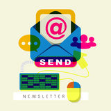 Flat design for modern newsletter concept Stock Photography