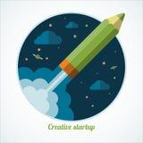 Flat design modern startup concept vector illustration