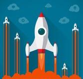 Flat design modern startup concept royalty free illustration