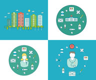 Flat design modern vector illustration concept for Royalty Free Stock Photo