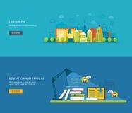 Flat design modern vector illustration icons set Stock Photography