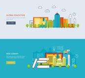 Flat design modern vector illustration icons set Royalty Free Stock Images