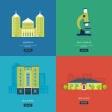 Flat design modern vector illustration icons set Stock Images