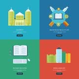 Flat design modern vector illustration icons set Stock Photo