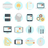 Flat design modern vector illustration icons set Royalty Free Stock Images