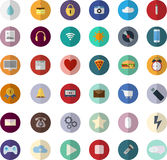 Flat design modern vector illustration icons set of SEO website Royalty Free Stock Photography