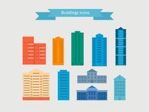 Flat design modern vector illustration icons set Royalty Free Stock Photography