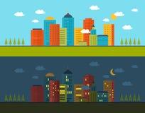 Flat design modern vector illustration icons set Royalty Free Stock Photos