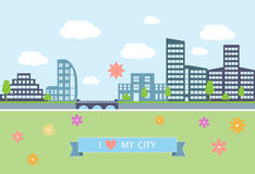 Flat design modern vector illustration  of urban Stock Image