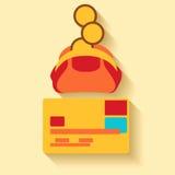 Flat design money icons Royalty Free Stock Image