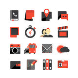 Flat design monochrome icons Stock Photography