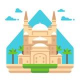 Flat design Mosque of Muhammad Ali Royalty Free Stock Photo