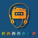 Flat design. music player Stock Images