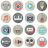 Flat Design Musical Icons Royalty Free Stock Image