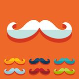 Flat design. mustache Stock Photography