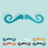 Flat design. mustache Royalty Free Stock Image