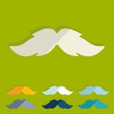 Flat design. mustache Royalty Free Stock Photography