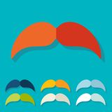 Flat design. mustache Royalty Free Stock Photo