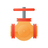Flat design natural gas pipeline icon Stock Image