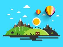 Flat Design Nature. vector illustration