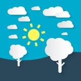 Flat Design Nature - Landscape Illustration Stock Images