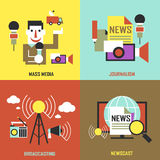 Flat design for the news industry concepts Stock Image