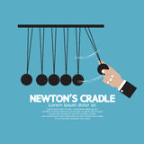 Flat Design Newton's Cradle Royalty Free Stock Photography