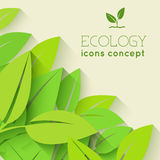 Flat Design Of Ecology, Environment, Green Clean Royalty Free Stock Image