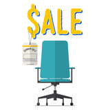 Flat design of office chair furniture summer sale concept Royalty Free Stock Images