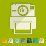 Flat design. old photocamera Royalty Free Stock Images