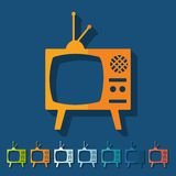 Flat design. old tv Royalty Free Stock Photo