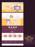 Flat design one page website template Stock Photos