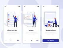 Flat Design Oneboarding Concepts royalty free illustration