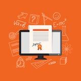 Flat design  for online education Stock Photo