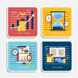 Flat design of online payment methods Stock Images