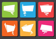 Flat design origami speech bubbles Royalty Free Stock Photos