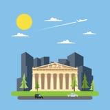 Flat design of paethenon greek Stock Photos