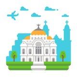Flat design Palace of Fine Arts. Illustration Stock Photo