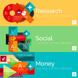 Flat design paper infographic banner set Stock Photography