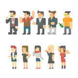 Flat design of party people set Royalty Free Stock Photos