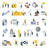 Flat design people concept icons isolated on white Royalty Free Stock Photography