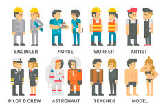 Flat design people with professions set Stock Image