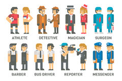 Flat design people with professions set Stock Photo