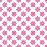 Flat design pink floral pattern seamless pattern background Royalty Free Stock Image