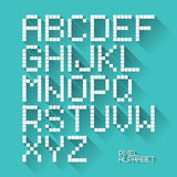 Flat design pixel alphabet Stock Photo