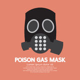 Flat Design Poison Gas Mask Royalty Free Stock Photos