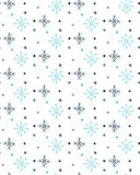 TRENDY CHRISTMAS HAND DRAW SEAMLESS VECTOR PATTERN. FIR TREES WITH STAR AND SNOW FALLING TEXTURE. FLAT DESIGN. POLYGON ART. WINTER MOUNTAIN LANDSCAPE. SNOW Royalty Free Stock Images